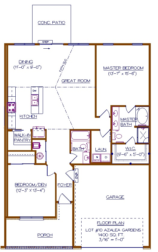 Lot #10 AG - Floor Plan - Brochure of Right Side